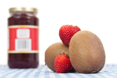 Kiwi and Strawberry Jam Royalty Free Stock Photography