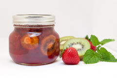 Kiwi and Strawberry Jam Royalty Free Stock Image