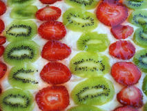 Kiwi and strawberry pie Stock Image