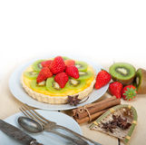 Kiwi and strawberry pie tart Stock Photo