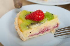 Kiwi and strawberry pie tart Stock Photography