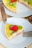 Kiwi and strawberry pie tart Royalty Free Stock Photos