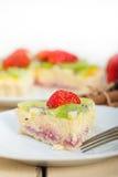 Kiwi and strawberry pie tart Stock Photos