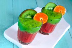 Kiwi and strawberry smoothie Royalty Free Stock Images