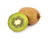 Kiwi su fondo bianco, macro Fotografia Stock