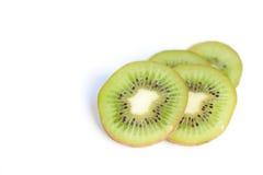 Kiwi su priorità bassa bianca Immagini Stock