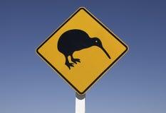Kiwi sur la route Photos libres de droits