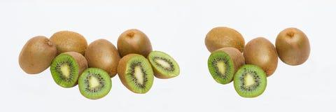 Kiwi sur le fond blanc Composition de kiwi sur le backgroun blanc Photos libres de droits