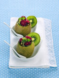 Kiwi surprise. Kiwi raspberry currant and mint Royalty Free Stock Photography