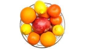 kiwi tła owoców cytryny grapefruitowej pomarańczowy white Fotografia Stock