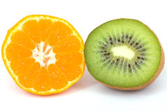 Kiwi and tangerine Royalty Free Stock Images