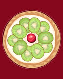 Kiwi tart Stock Photo