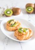 kiwi tart on plate Royalty Free Stock Photography