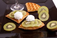 Kiwi Tart Slices Stock Photos