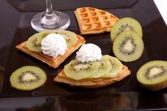 Kiwi Tart Slices Stock Photos