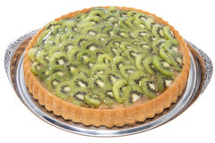 Kiwi Tart (on white) Stock Image
