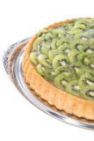 Kiwi Tart (on white) Stock Photo
