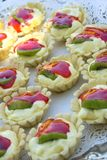 Kiwi Tarts. Kiwi and strawberry hors d'oeuvres Stock Photography