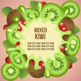 Kiwi template Royalty Free Stock Photo