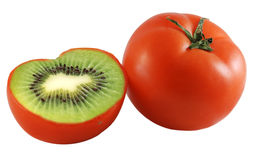 Kiwi Tomato Royalty Free Stock Photos