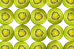 Kiwi transparent slices on white background Royalty Free Stock Image