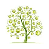 Kiwi tree for your design Royalty Free Stock Photos