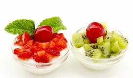 kiwi truskawek jogurt Fotografia Stock