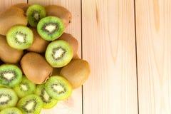 Kiwi in two halves Stock Image