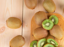 Kiwi in two halves Royalty Free Stock Photography