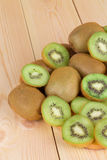 Kiwi in two halves Stock Photo