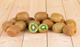 Kiwi in two halves Royalty Free Stock Images