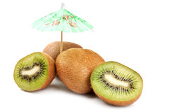 Kiwi and umbrella Royalty Free Stock Photography