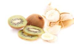 Kiwi und Banane Lizenzfreie Stockbilder