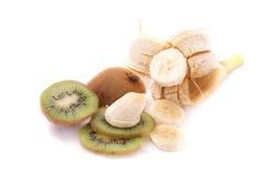 Kiwi und Banane Lizenzfreies Stockbild