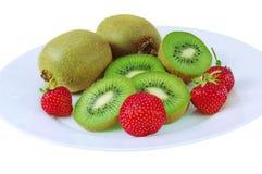 Kiwi und Erdbeere Stockbild