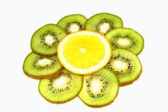 Kiwi und Orange Lizenzfreies Stockfoto