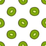 Kiwi Vector Seamless Pattern Arkivbilder