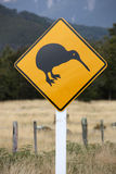 Kiwi warning sign stock images