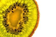 Kiwi, Wassertropfen, Nahaufnahme Lizenzfreies Stockbild