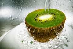 Kiwi and water Stock Photos