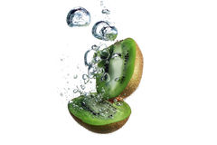 Kiwi and water Royalty Free Stock Image