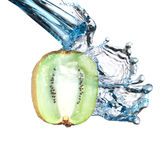 Kiwi water splash Royalty Free Stock Photography