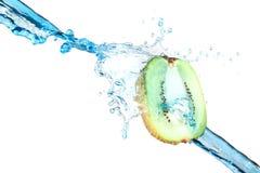 Kiwi water splash Royalty Free Stock Images