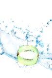 Kiwi water splash Stock Photo