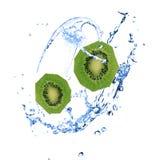 Kiwi with water splash Stock Image