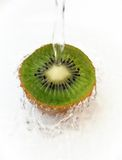 Kiwi Water Splash Royalty Free Stock Photos
