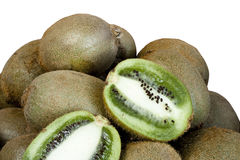 Kiwi  on white Stock Images