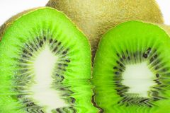 Kiwi on white background Stock Photos