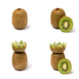 Kiwi on a white background. Ripe kiwi on a white background in various forms stock images