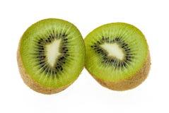 Kiwi on the white background. Splite kiwi on the white background Royalty Free Stock Images